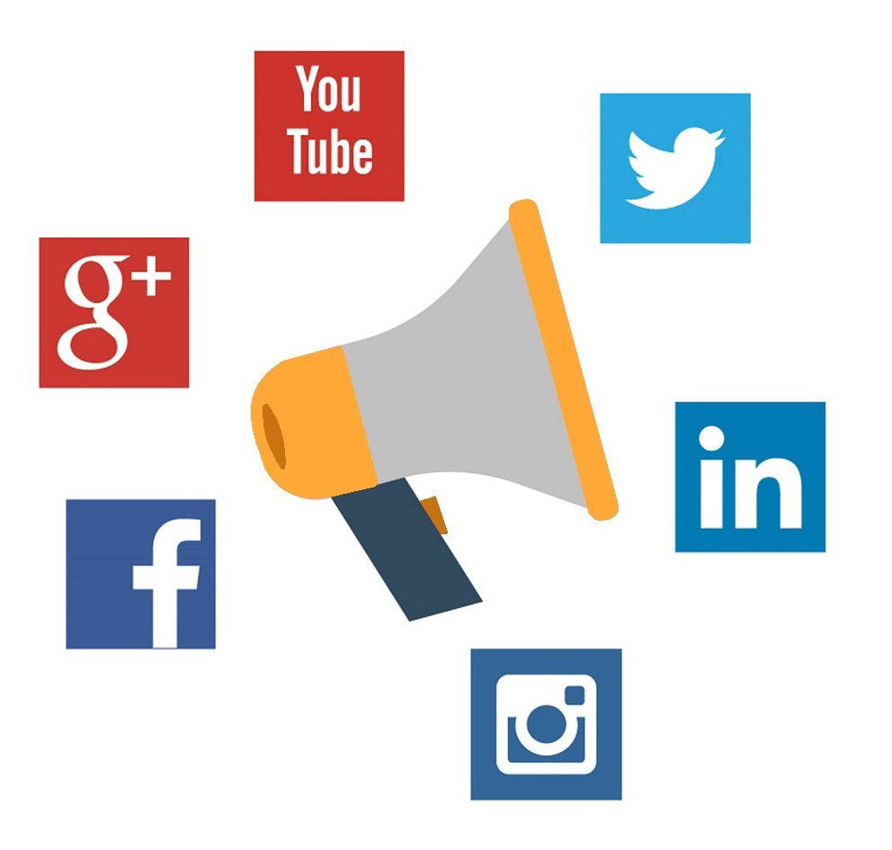 online marketing social media ikonok